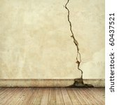 an old cracked wall with wooden ... | Shutterstock . vector #60437521