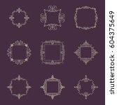 huge rosette wicker border...   Shutterstock .eps vector #604375649