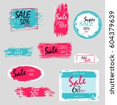 geometrical social media sale... | Shutterstock .eps vector #604379639