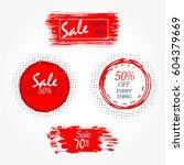 geometrical social media sale... | Shutterstock .eps vector #604379669
