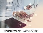 medical technology concept.... | Shutterstock . vector #604379801