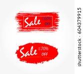 new social media sale banners... | Shutterstock .eps vector #604379915
