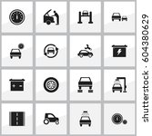 set of 16 editable vehicle... | Shutterstock .eps vector #604380629