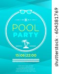 Vertical Blue Pool Party...