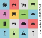 set of 16 editable furniture...
