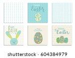 colorful happy easter greeting... | Shutterstock .eps vector #604384979