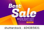 best sale discount and...   Shutterstock .eps vector #604385831