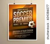 soccer sports flyer poster...   Shutterstock .eps vector #604386077