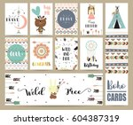 card template collection for... | Shutterstock .eps vector #604387319
