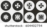 fan vector icons set.... | Shutterstock .eps vector #604402754