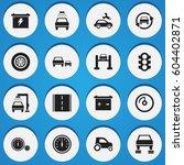 set of 16 editable traffic...   Shutterstock .eps vector #604402871