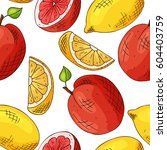 vector seamless pattern with... | Shutterstock .eps vector #604403759
