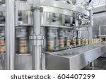 close up of conveyor belt in... | Shutterstock . vector #604407299