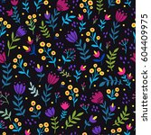 seamless vector  pattern with... | Shutterstock .eps vector #604409975