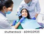 dental doctors examining...   Shutterstock . vector #604410935