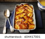 bread and butter pudding | Shutterstock . vector #604417001