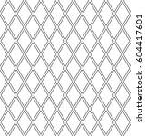 seamless diamonds lattice... | Shutterstock .eps vector #604417601