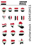 iraq flag collection. big set... | Shutterstock .eps vector #604418411