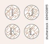 decorative initial letters i  j ...