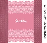 greeting card or invitation... | Shutterstock .eps vector #604421225