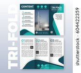 business tri fold brochure... | Shutterstock .eps vector #604422359