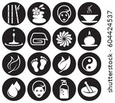 spa icons set | Shutterstock .eps vector #604424537