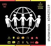 earth icon. communication... | Shutterstock .eps vector #604425119