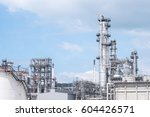 oil refinery plant. power and... | Shutterstock . vector #604426571