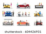 automobile showroom set on... | Shutterstock .eps vector #604426931