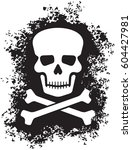 skull and crossed bones  pirate ... | Shutterstock .eps vector #604427981