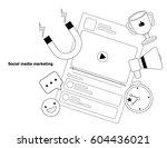 illustration vector of social... | Shutterstock .eps vector #604436021