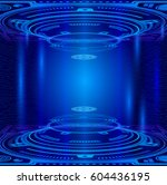 abstract technology background | Shutterstock .eps vector #604436195