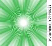 rays striped pattern with green ... | Shutterstock .eps vector #604440131