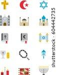 christian  jewish   muslim... | Shutterstock .eps vector #604442735