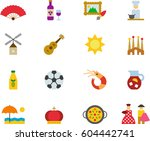 Spain Colored Flat Icons