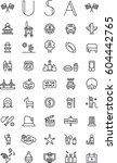 united states outline icons | Shutterstock .eps vector #604442765