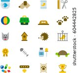 pets colored flat icons | Shutterstock .eps vector #604442825