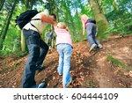 family of four hiking | Shutterstock . vector #604444109
