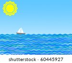 Vector Illustration Of A Sail...