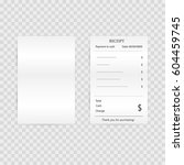 paper check  reciepts and...   Shutterstock .eps vector #604459745