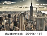 hdr image of the new york city. | Shutterstock . vector #604464464