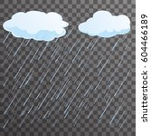 rain concept flat background... | Shutterstock .eps vector #604466189