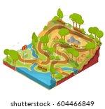 vector 3d isometric... | Shutterstock .eps vector #604466849
