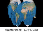 map painted on hands showing... | Shutterstock . vector #60447283