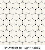 geometric hexagon minimal grid... | Shutterstock .eps vector #604473089