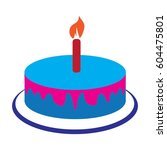 cake birthday vector | Shutterstock .eps vector #604475801