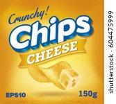 potato chips. package design.... | Shutterstock .eps vector #604475999