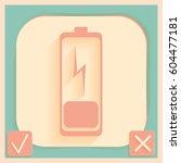 discharged battery. symbol a...   Shutterstock .eps vector #604477181