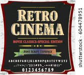 retro cinema script handcrafted ... | Shutterstock .eps vector #604478951