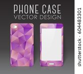 case for mobile phone with... | Shutterstock .eps vector #604483301